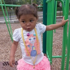 Baby girl at a playground